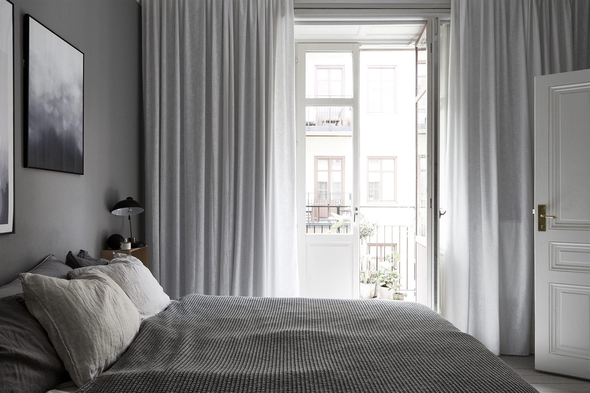 спальня балкон кровать текстиль
