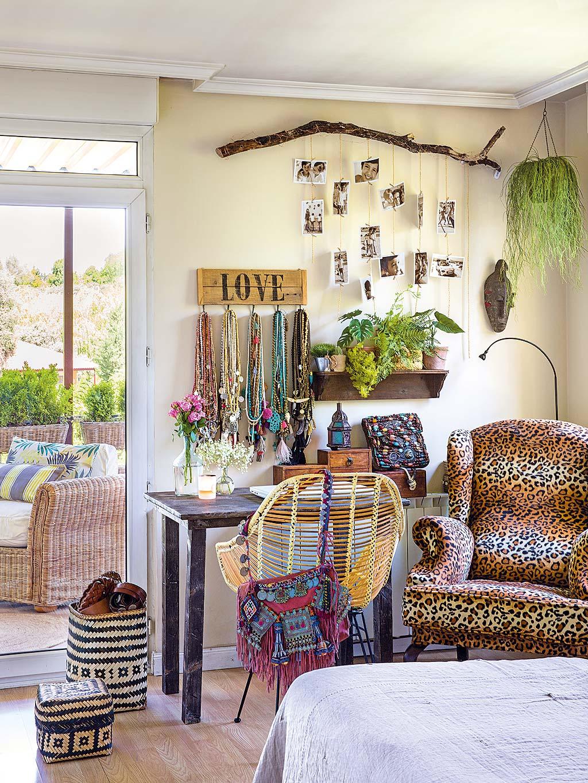 корзины столик консоль кресло леопардовый принт выход на террасу