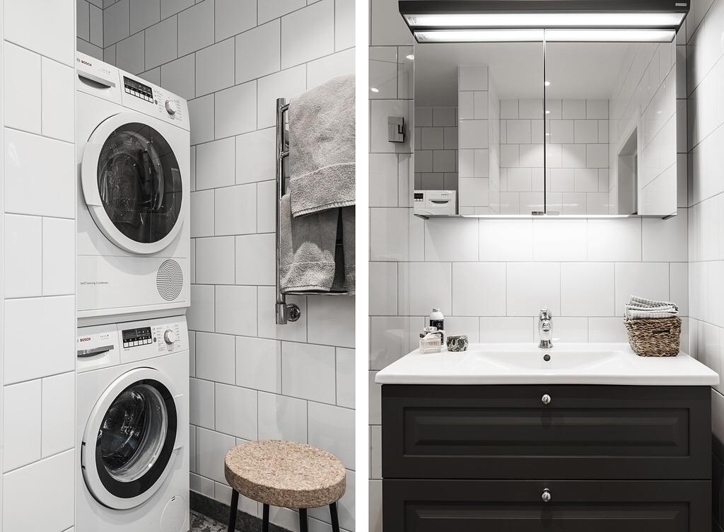 стиральная сушильная машина раковина комод зеркальный шкафчик