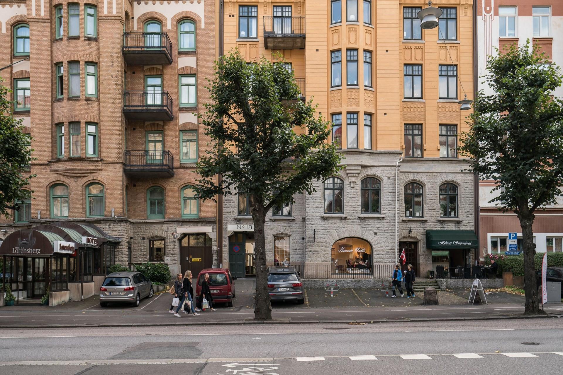 фасад городского дома