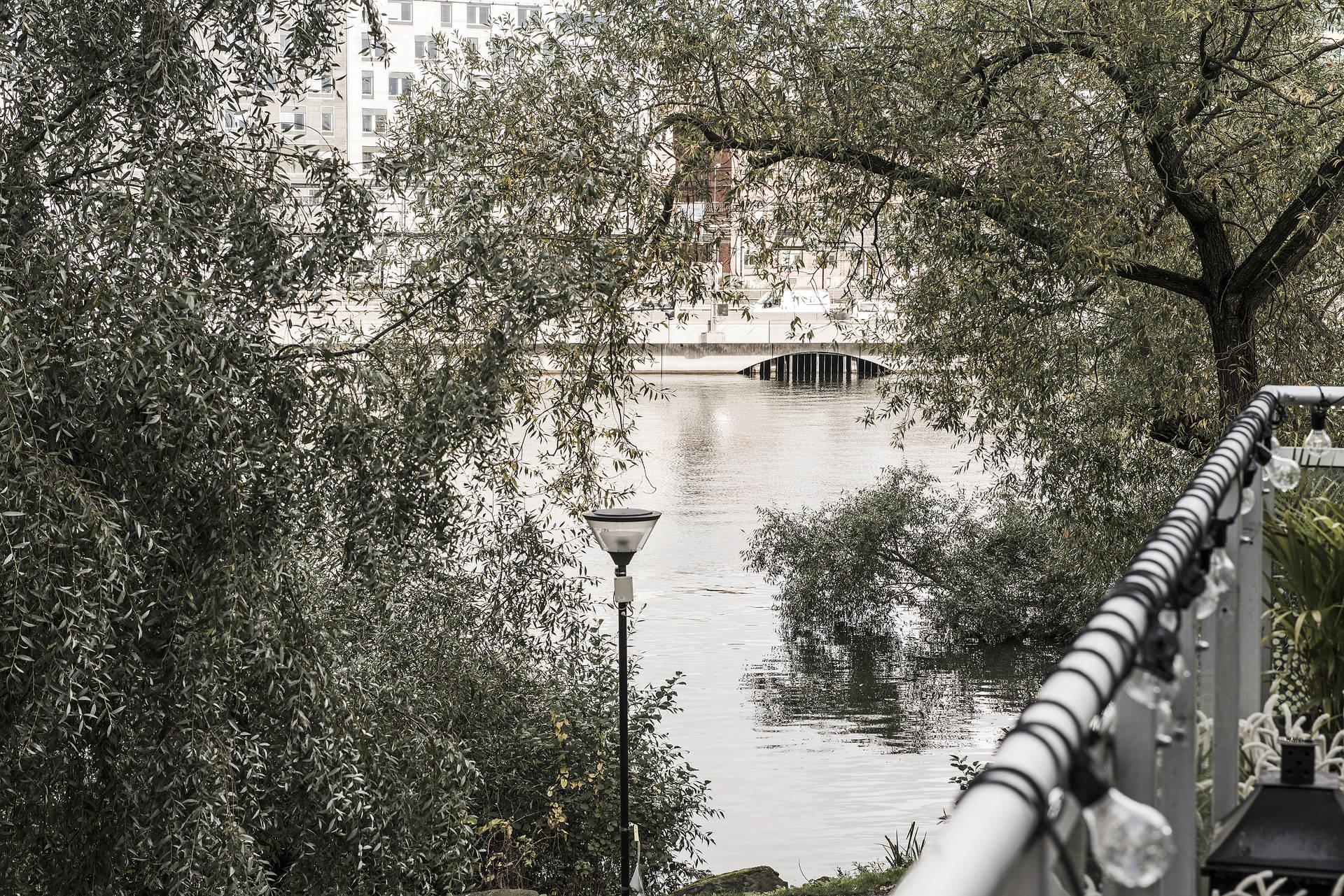 вид с балкона на озеро