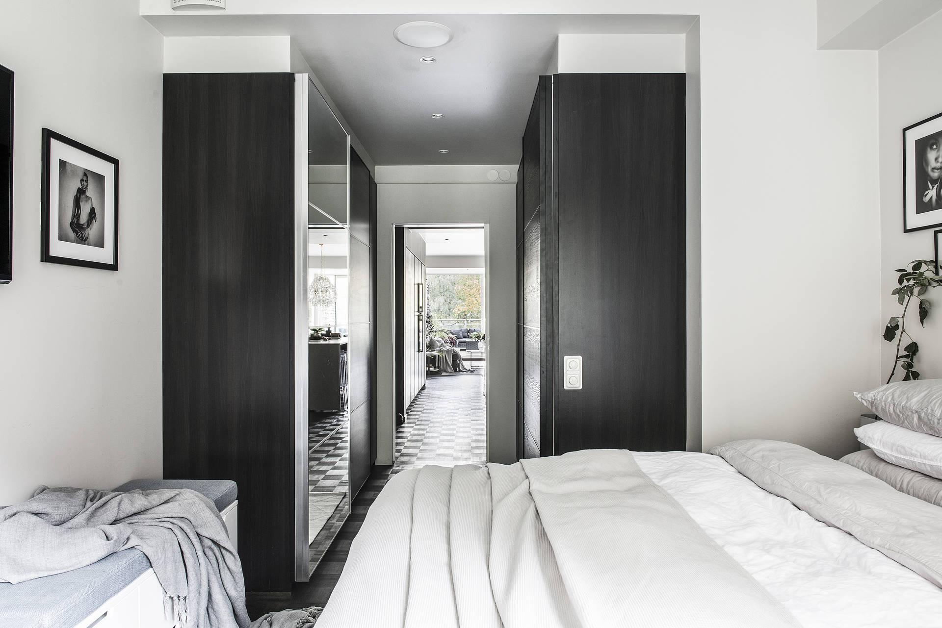 спальня проходной встроенный шкаф купе