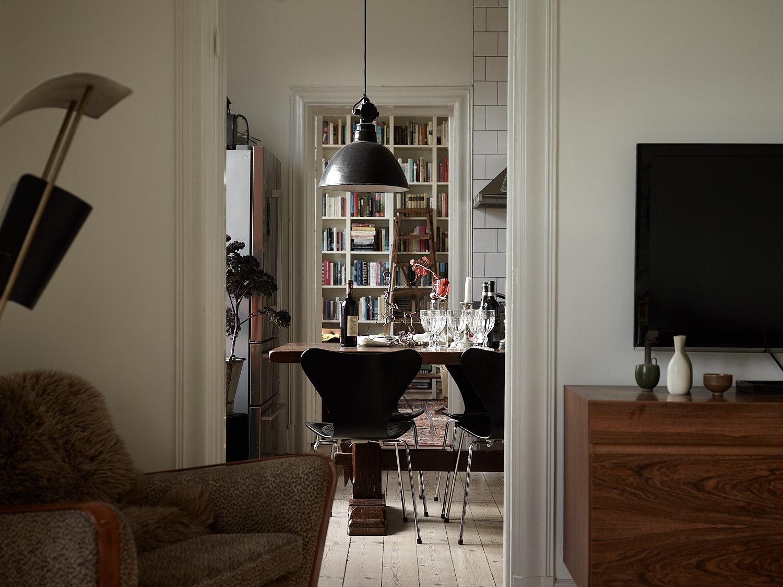 анфилада гостиная кухня