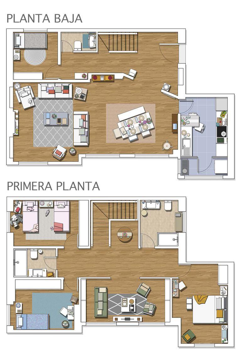 планировка-двухуровневая-квартира