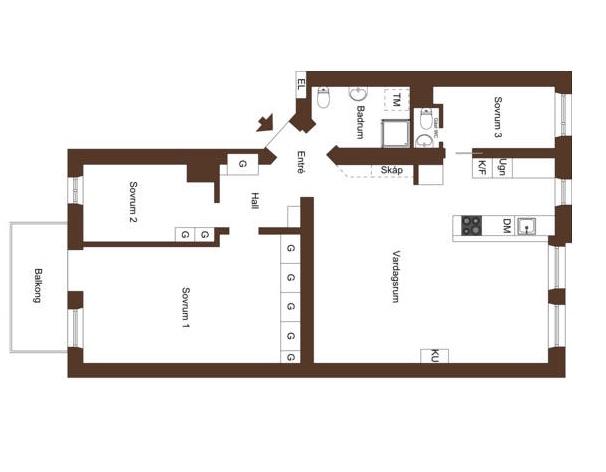 планировка-трехкомнатная-квартира-87квм