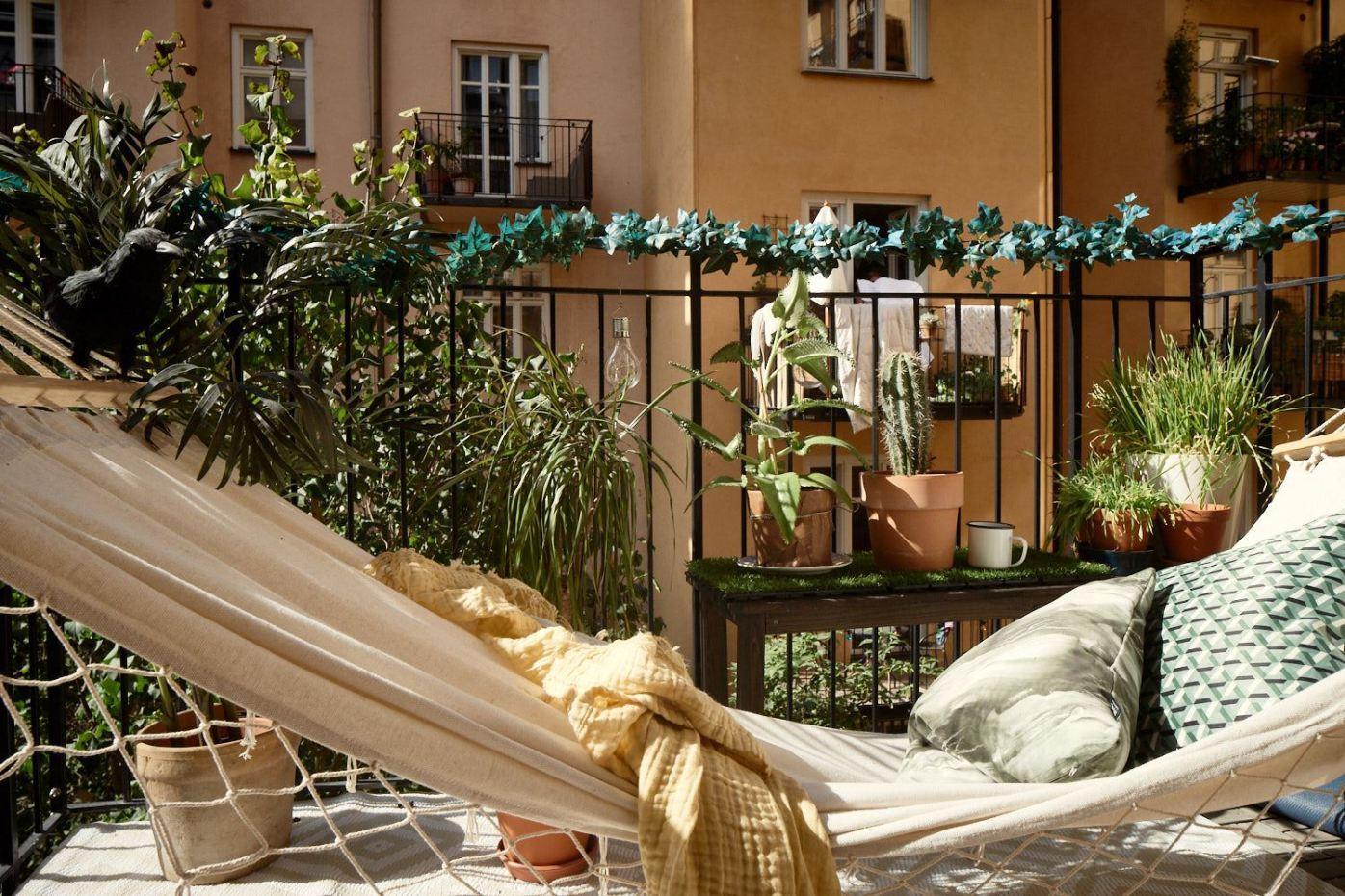 балкон гамак