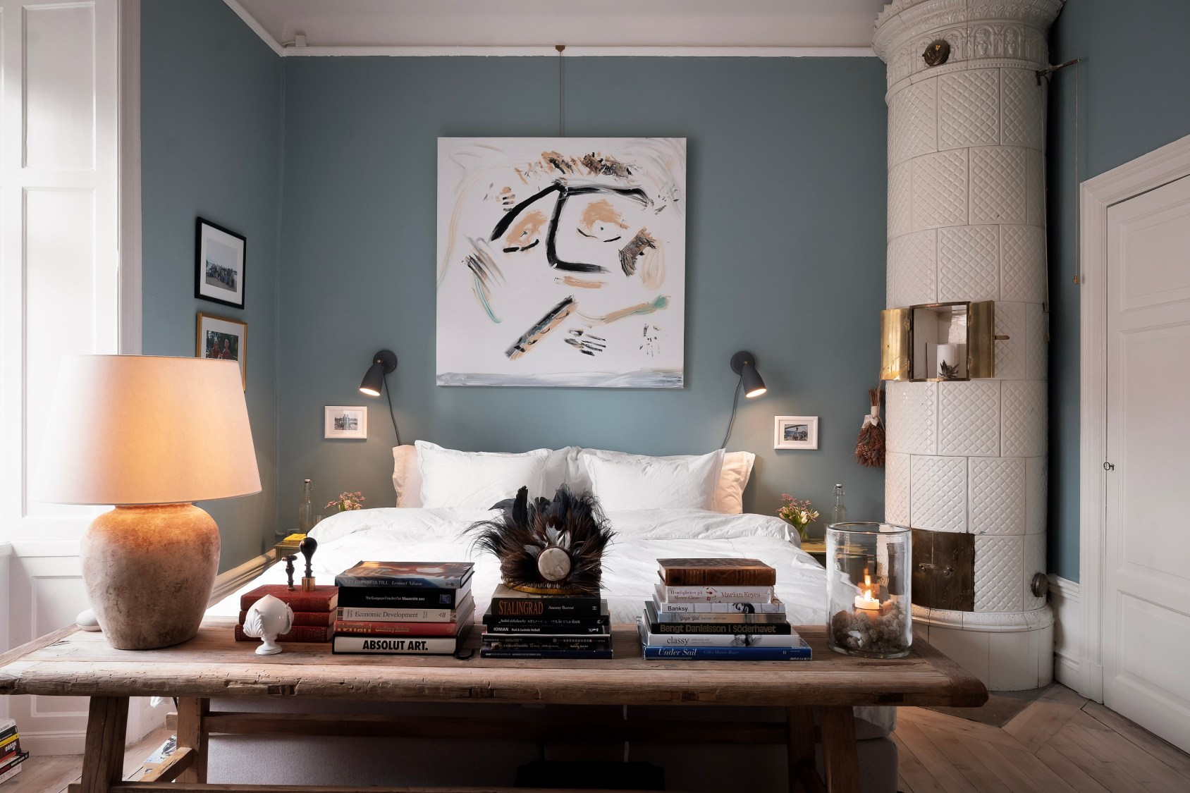 спальня печь скамья кровать