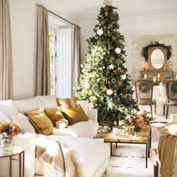 новогодний декор гостиной