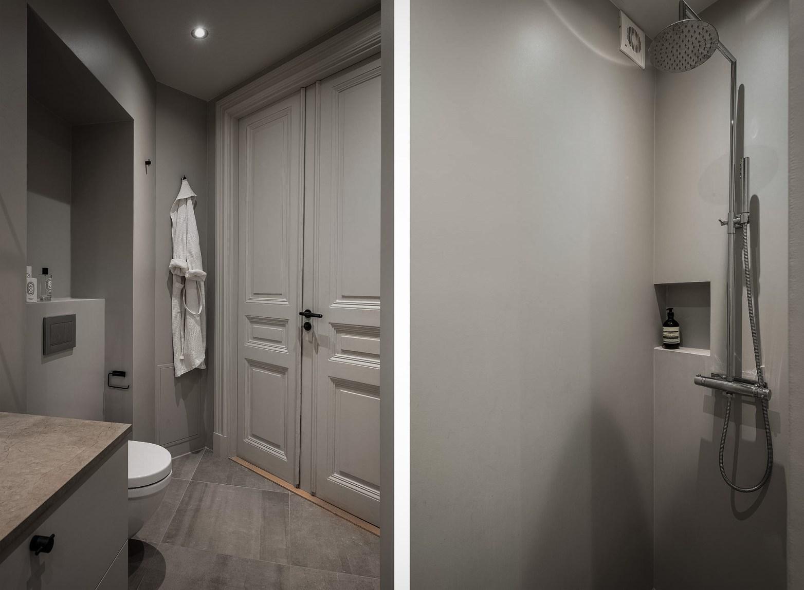 распашные двери санузел душ