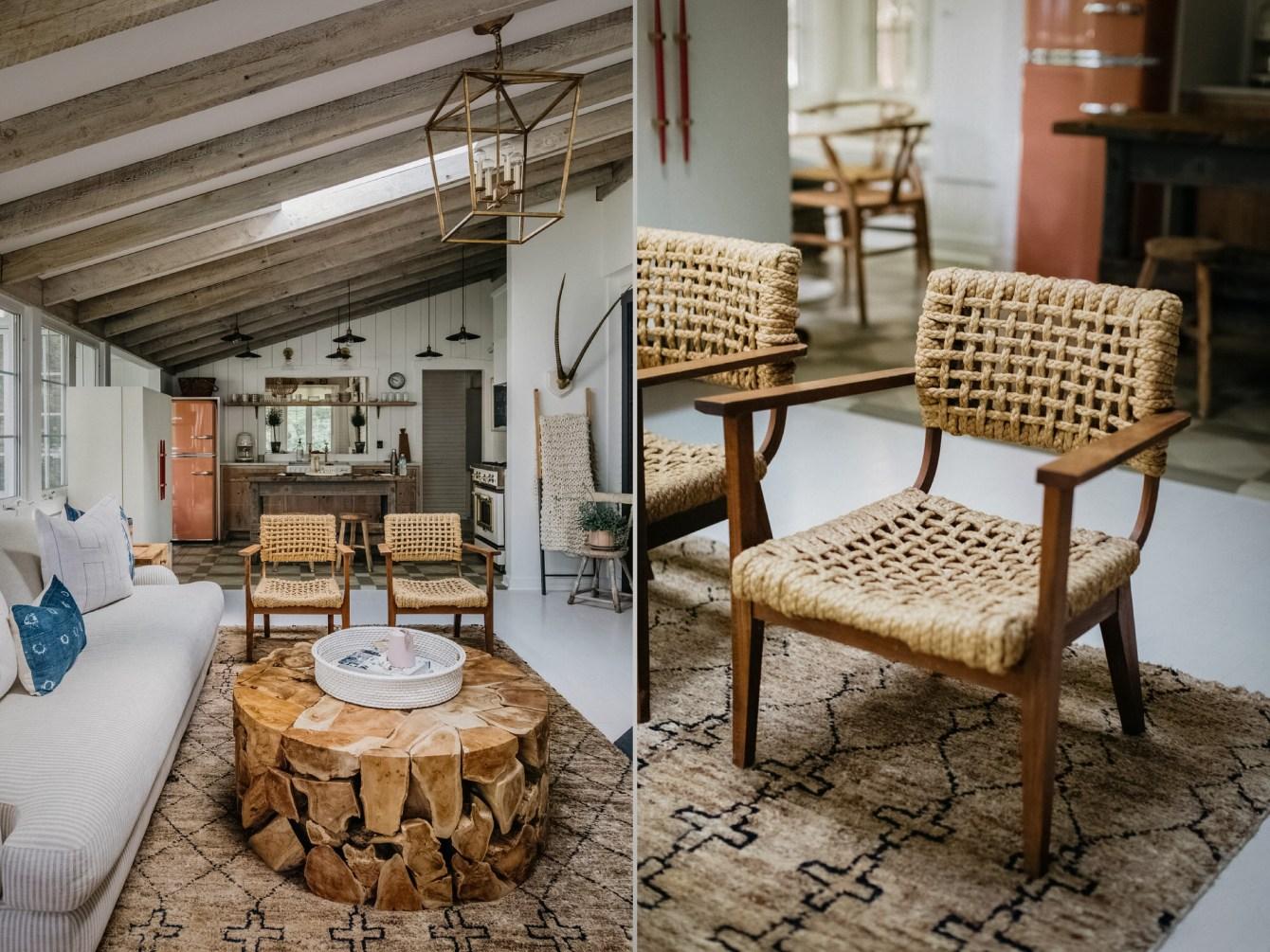 плетеный стул гостиная