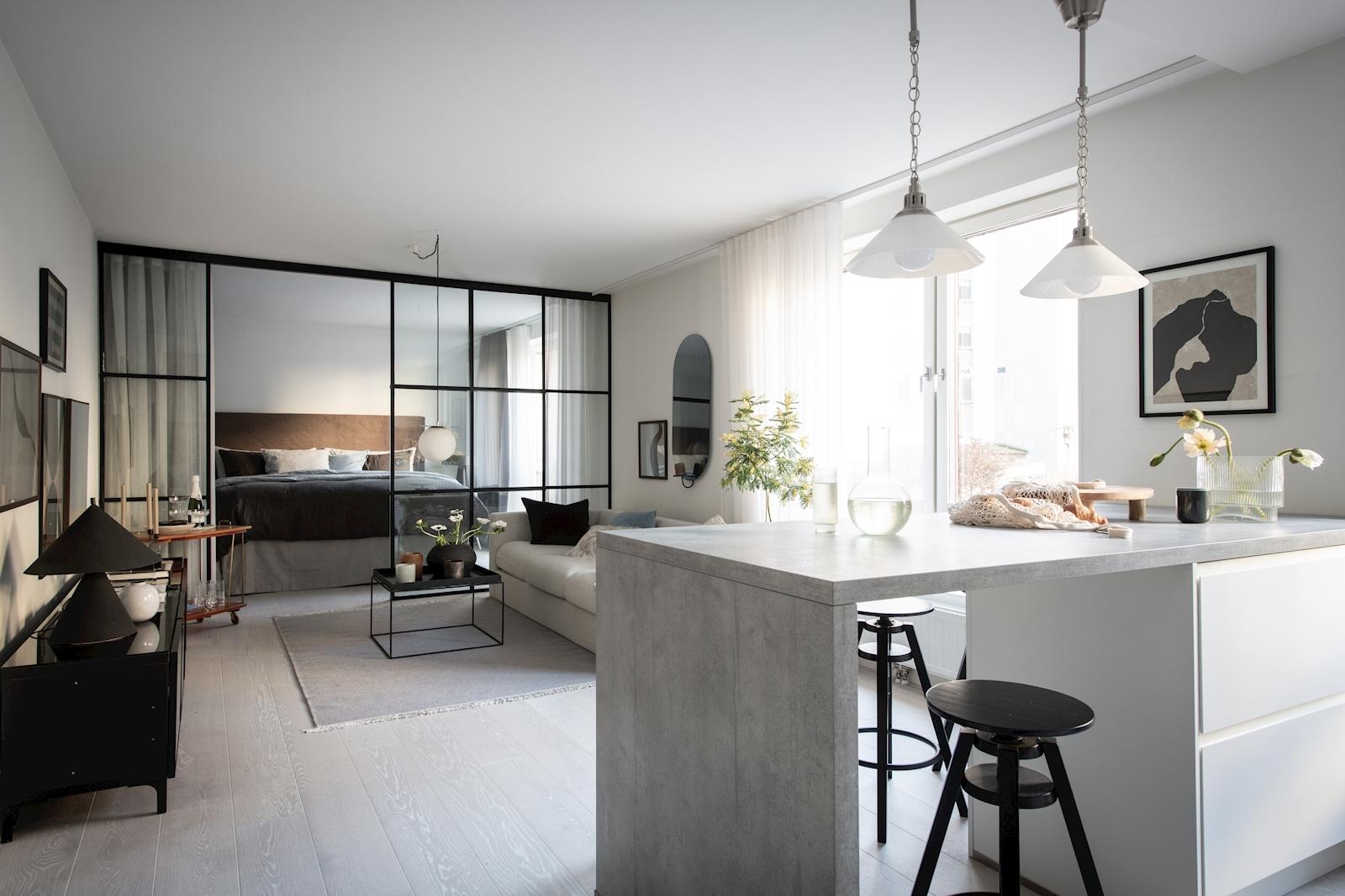 квартира 52 квм кухня кухонный остров