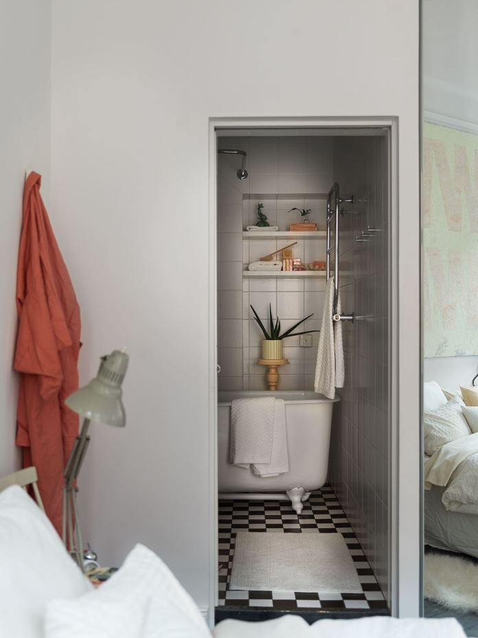 квартира 59 квм спальня санузел ванная