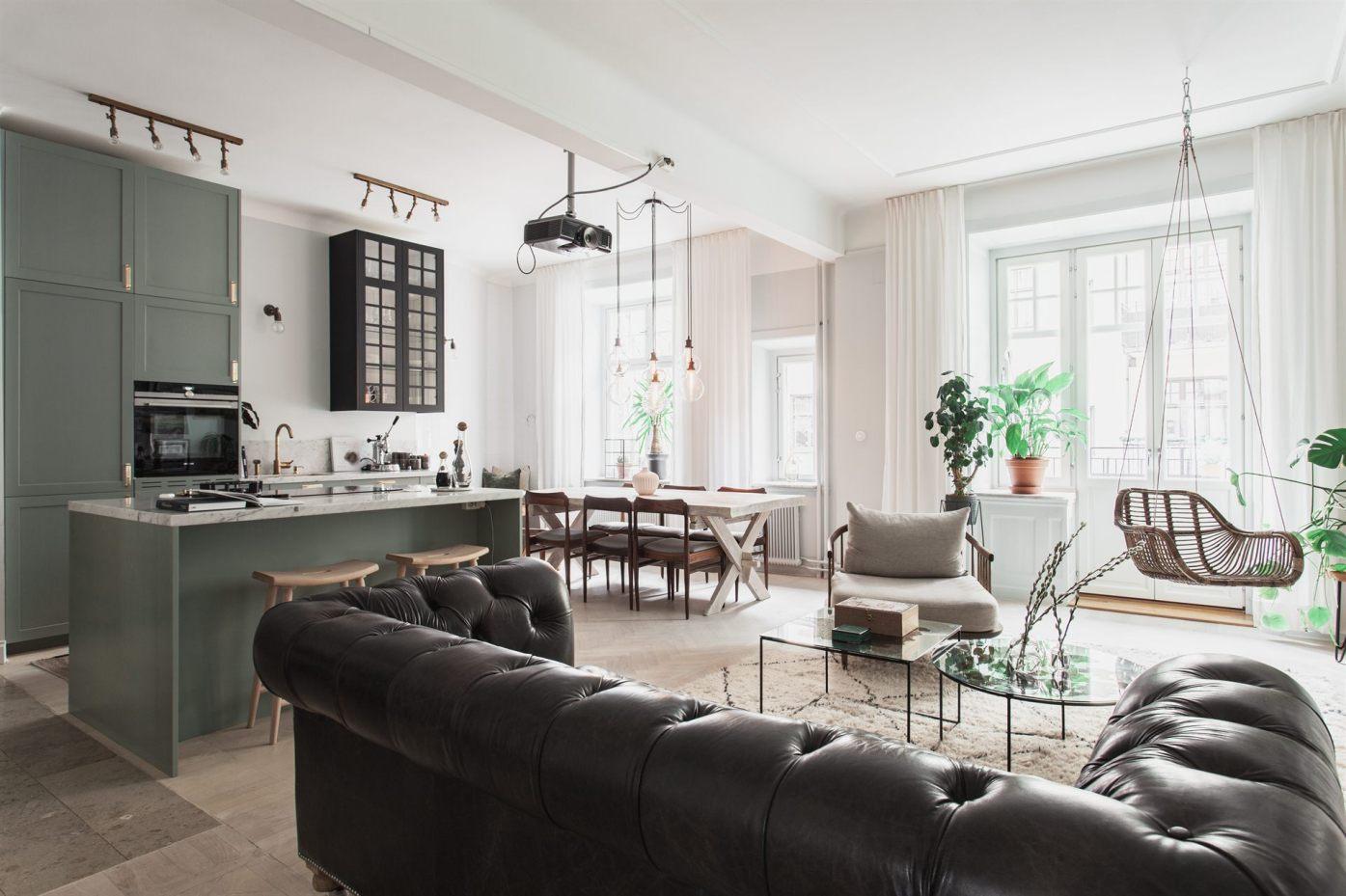 квартира 67 квм гостиная кухня столовая