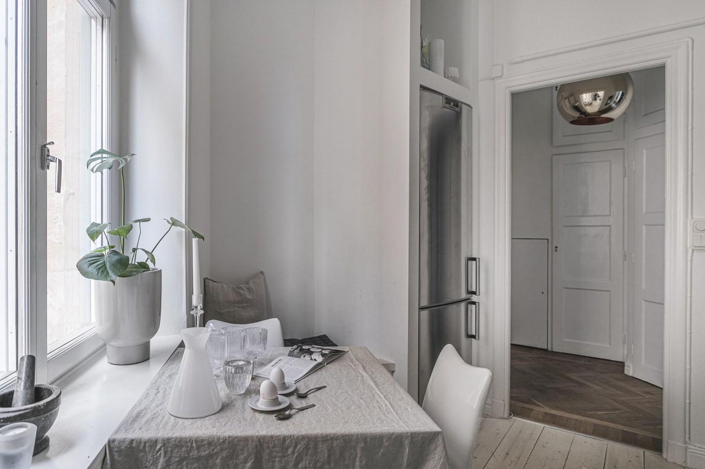квартира 89 квм кухонный стол ниша холодильник