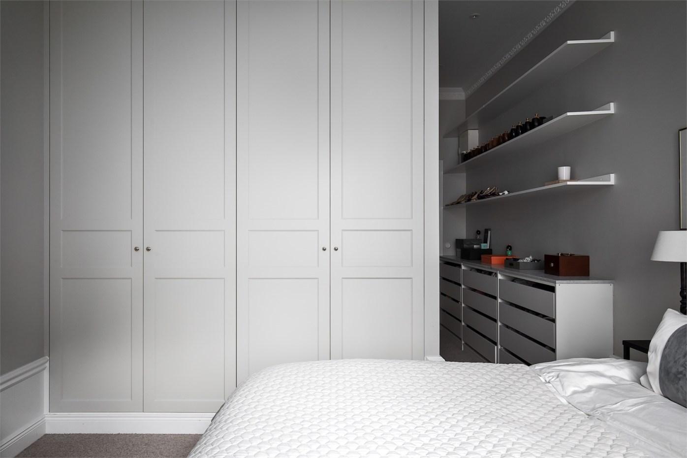 28606 bedroom grey wardrobe