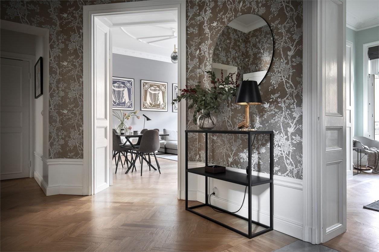 28606 hallway mirror high baseboard