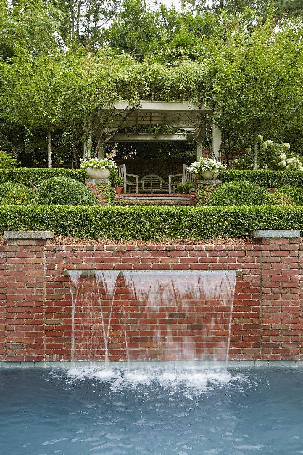 7-1 garden pool waterfall bricks