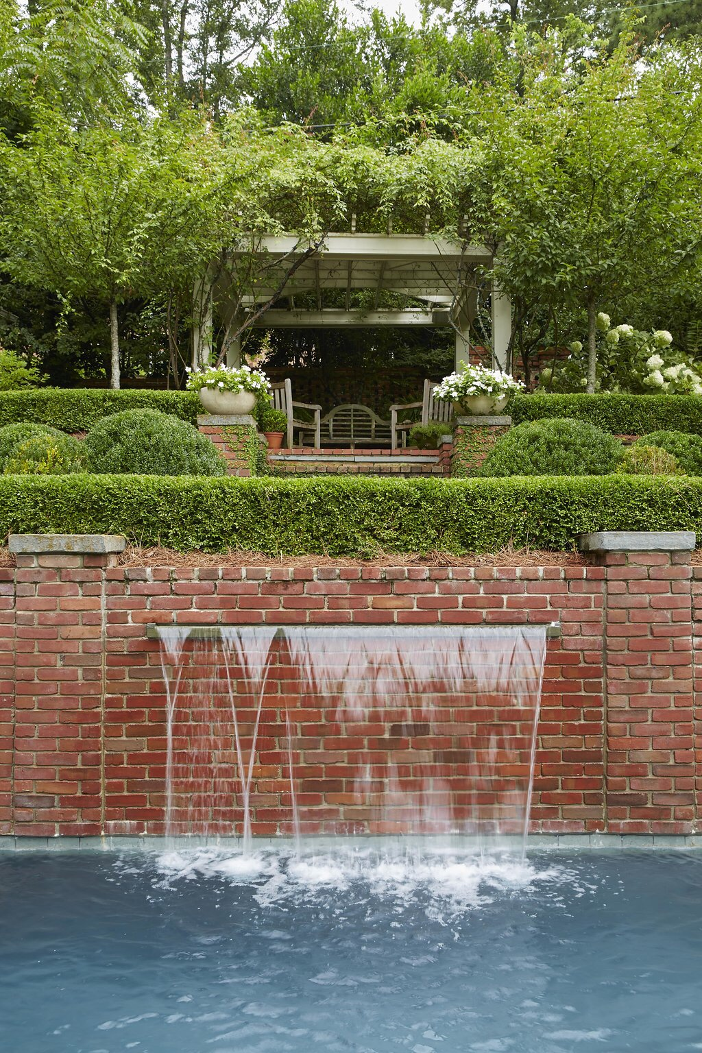 7-1 garden pool waterfall bricks