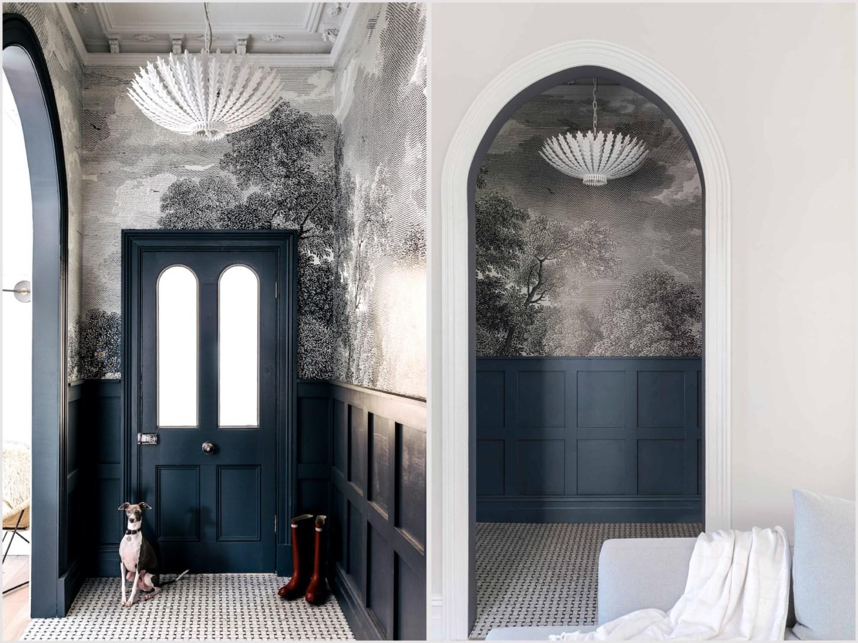 Дом в Австралии коридор арка стеновые панели