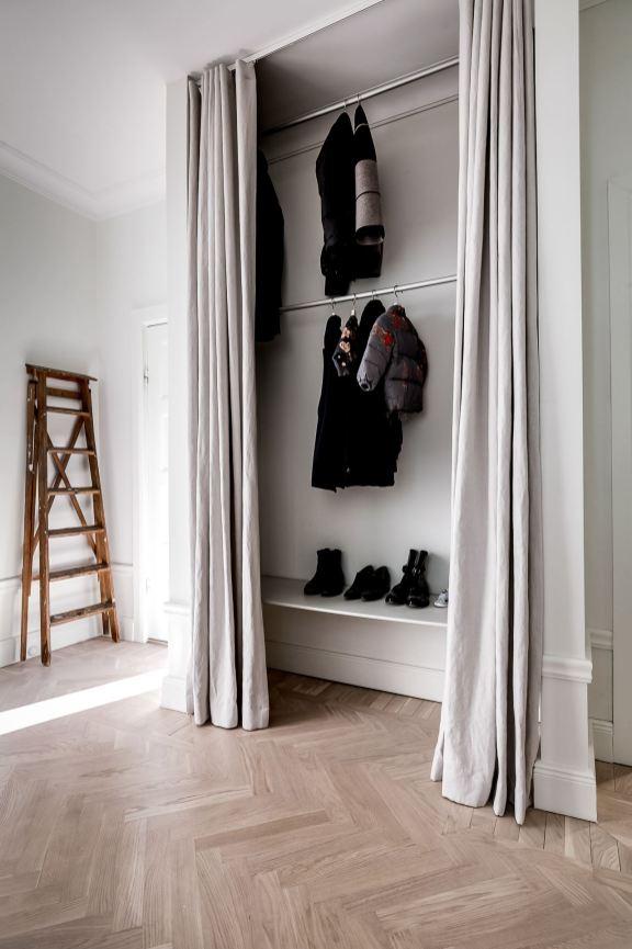 entryway storage curtains