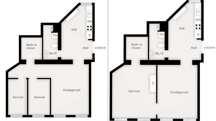 72 sqm floor plan