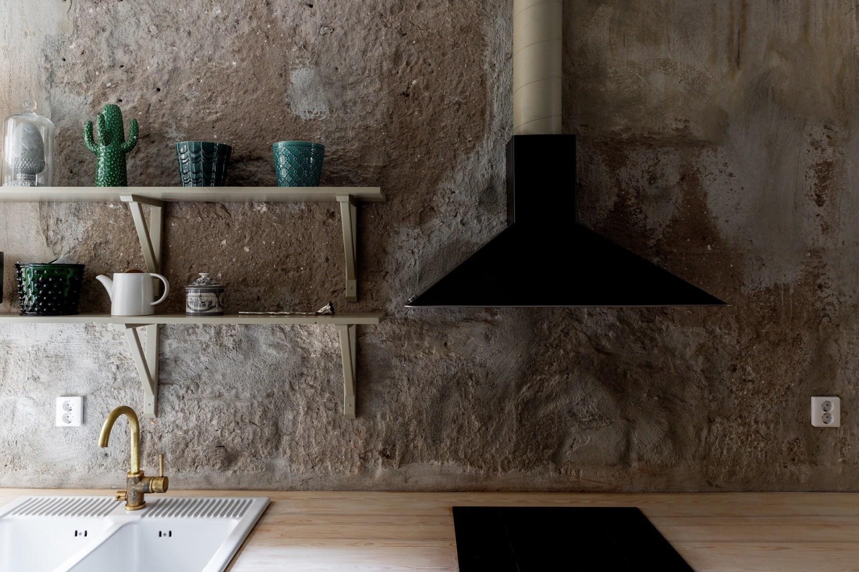 kitchen stone wall