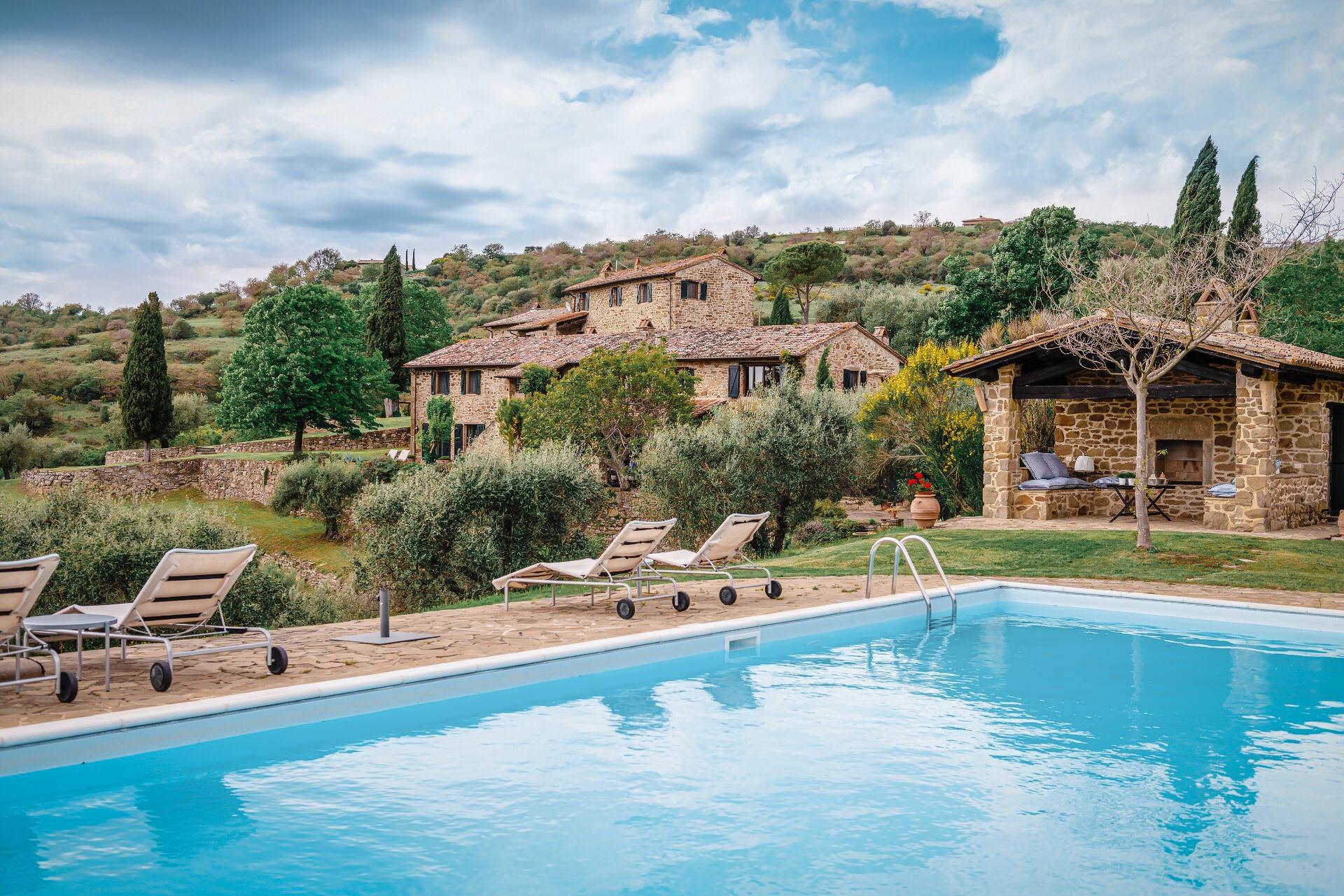 stone house pool