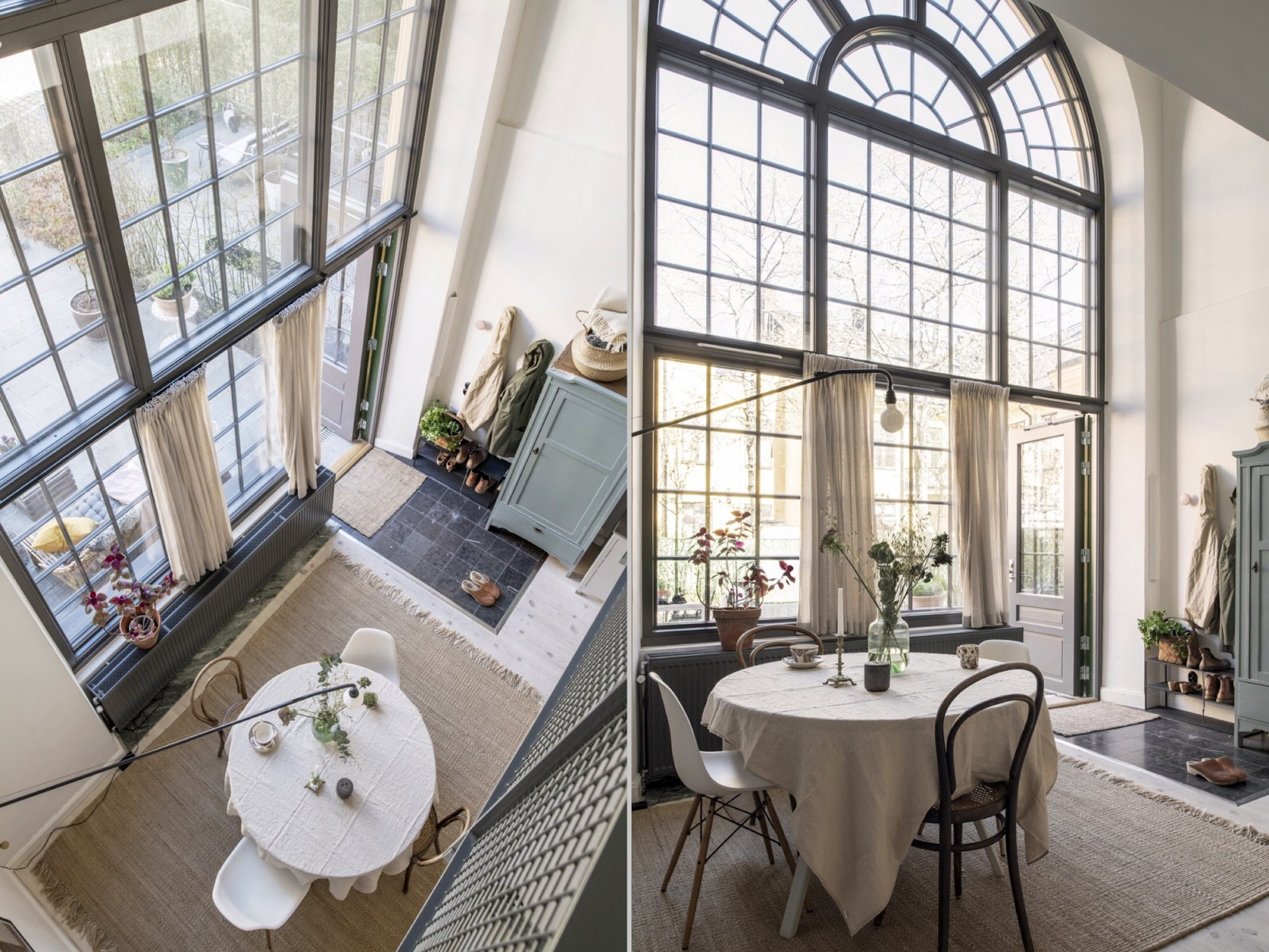 townhouse high ceiling windows