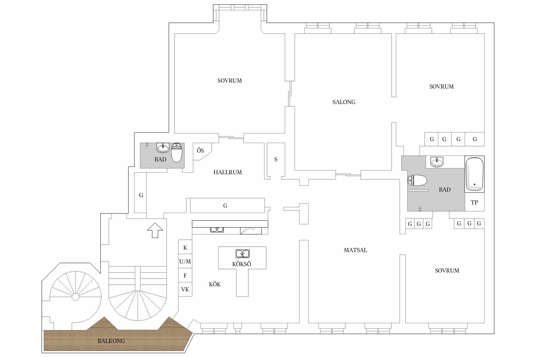 210 sqm floor plan