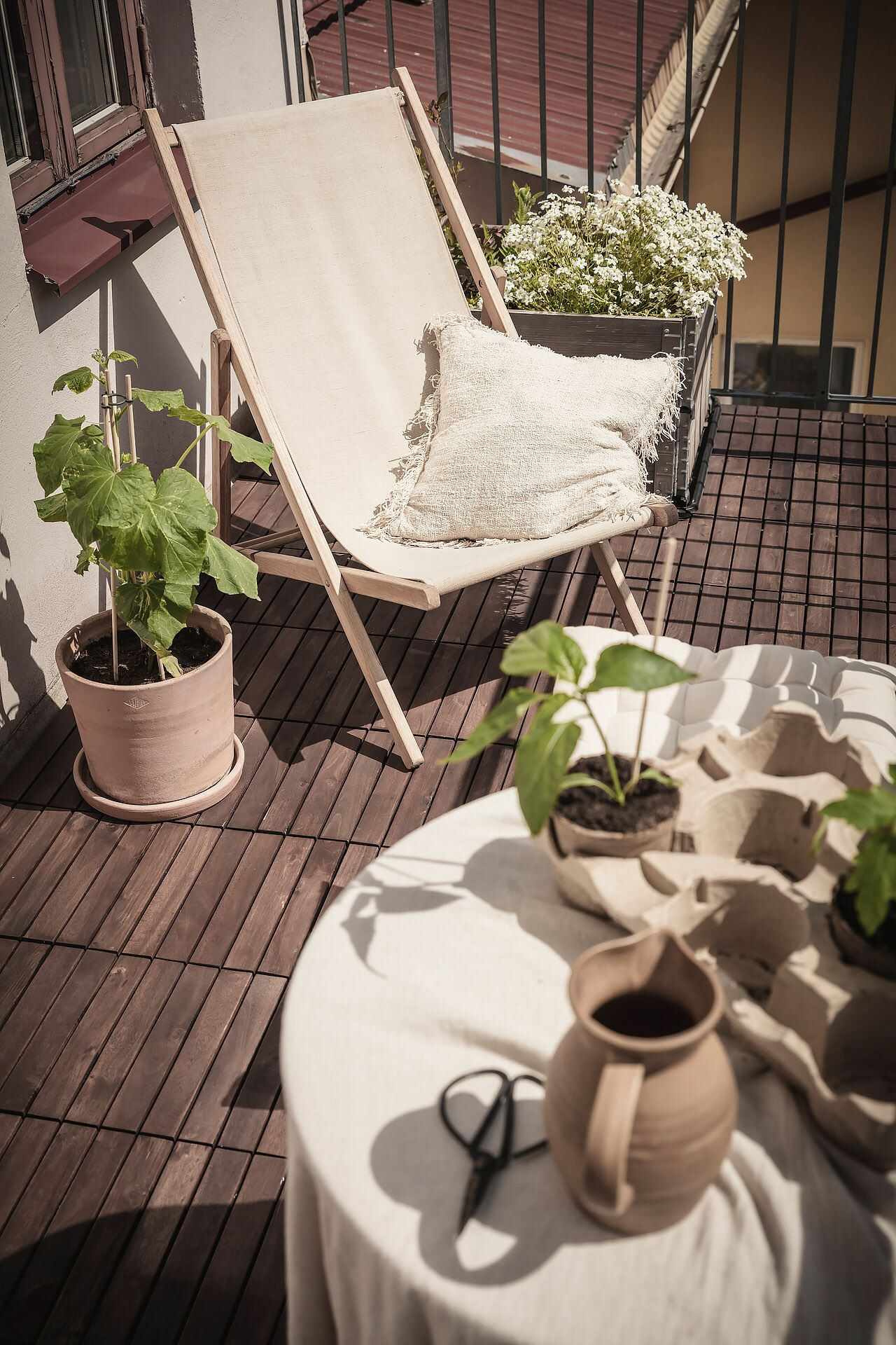 balcony wooden floor
