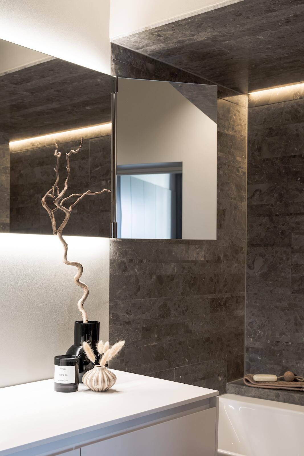 bathroom three side mirror