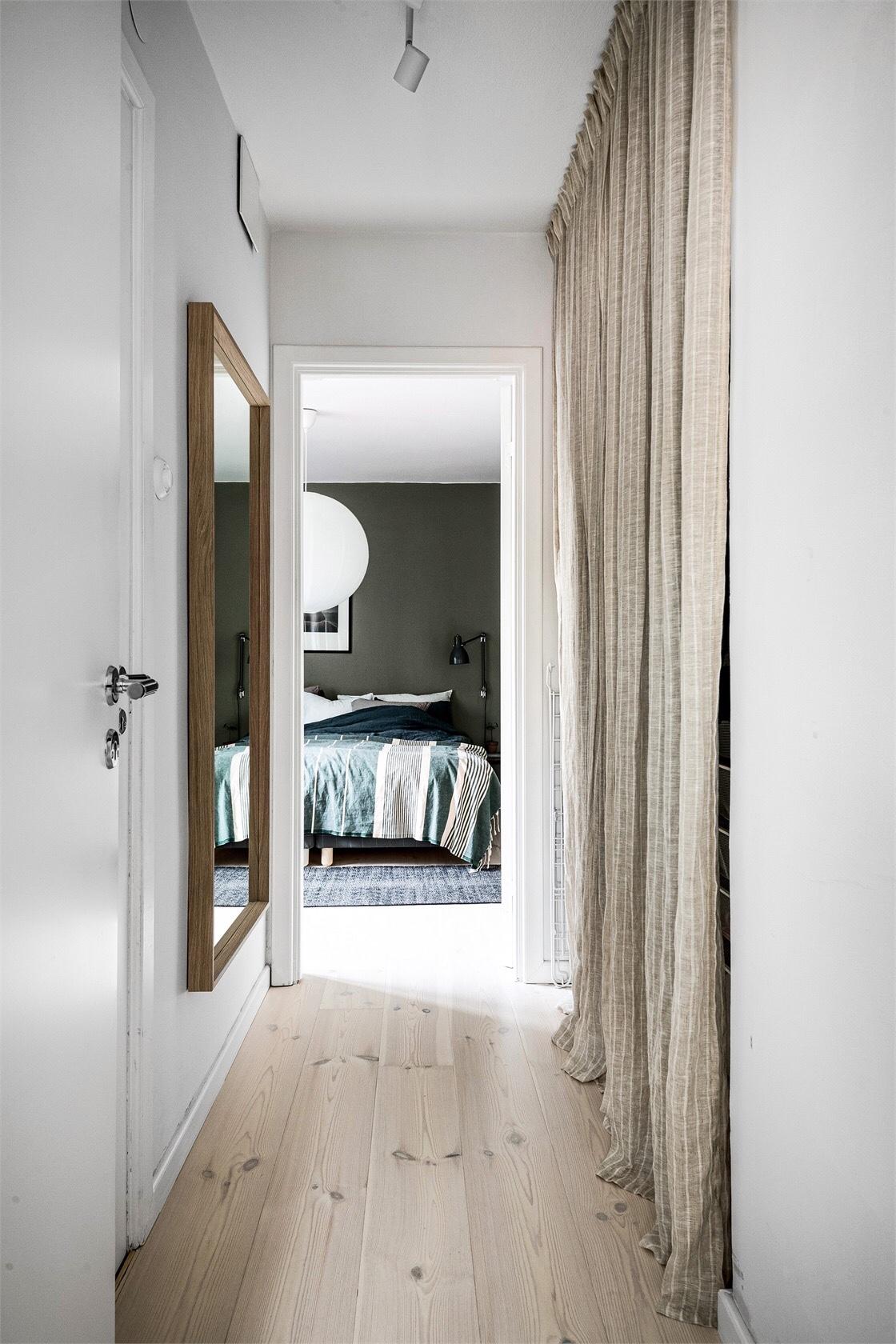 hallway curtained alcove