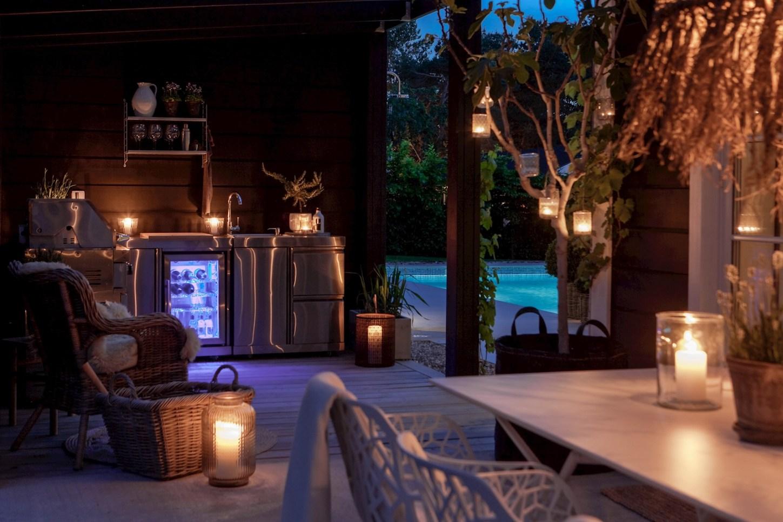 house terrace lighting