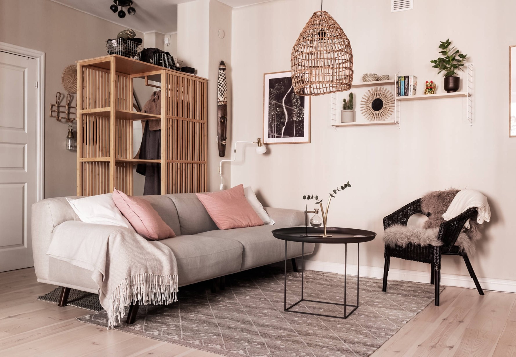 living room beige sofa