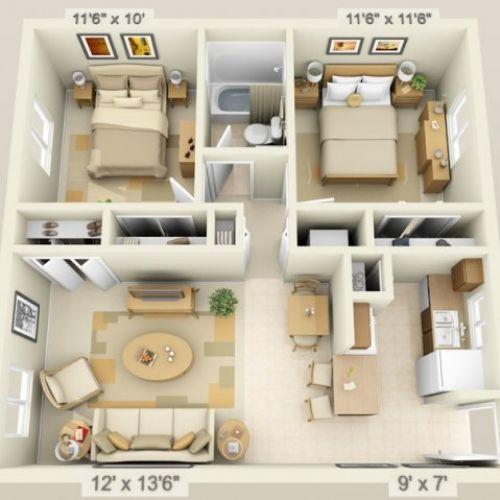 2 bedroom house plans ideas
