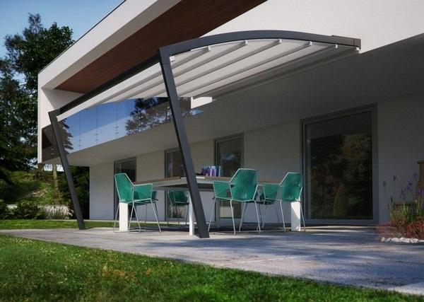 Aluminum factory covering modern sunscreen roof ideas