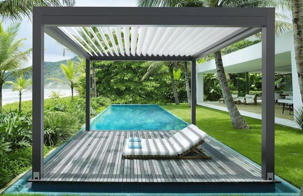 Sunscreen Pergola patio roof of detached electronically gibus