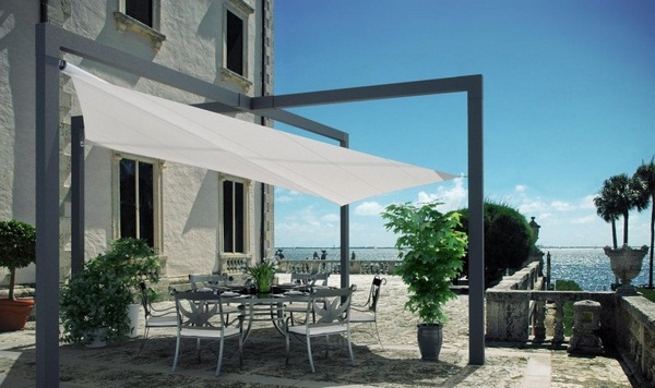Sunscreen roof awning metal construction