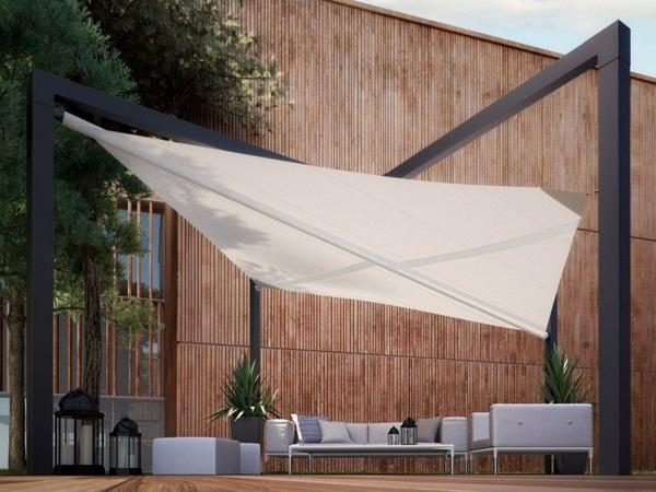Sunscreen roof metal freestanding awning