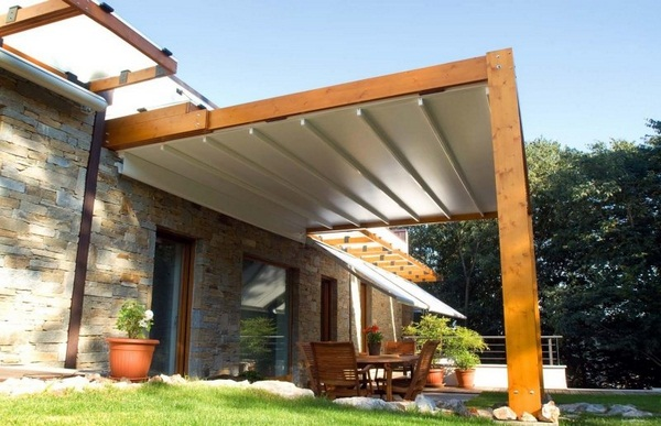 Sunscreen roof wooden frame ideas