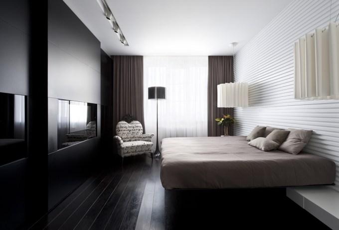 Modern Dark Bedroom By Alexandra Fedorova