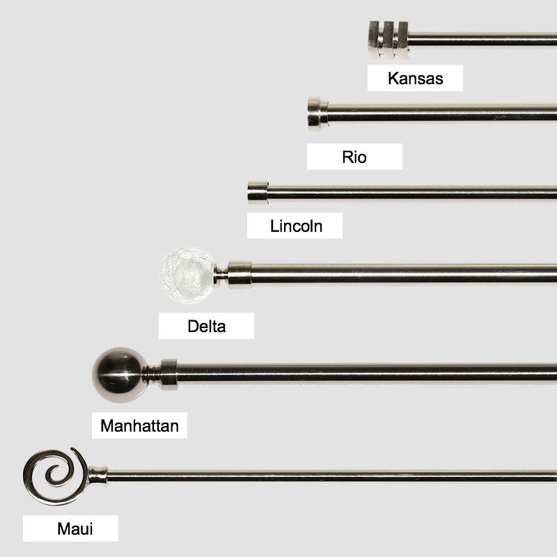 quality metal extendable curtain rod pole set 22mm curtain wonderland