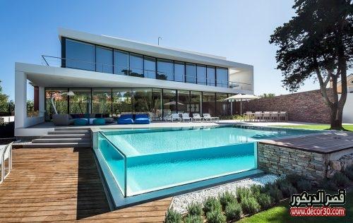 اجمل ٤٠ فكرة حمامات سباحة منزلية قصر الديكور