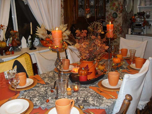 Fall Holiday Decorations, Warm Thankgiving Table Decoration