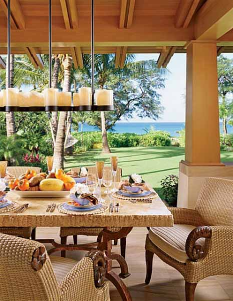 Hawaiian Decor  Aloha Style Tropical Home Decorating Ideas tropical theme for dining room decorating