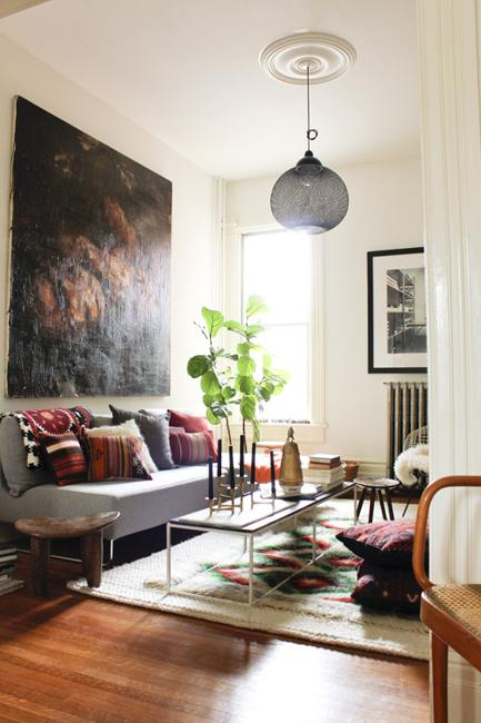 Bohemian Decor Ideas Adding Chic and Color to Small Living ... on Room Decor Photos  id=74876