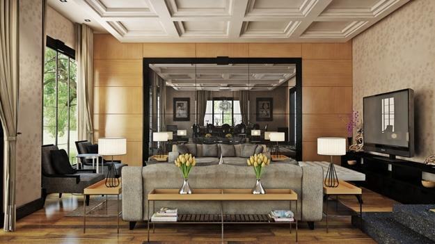 Brown Family Room Decorating Ideas