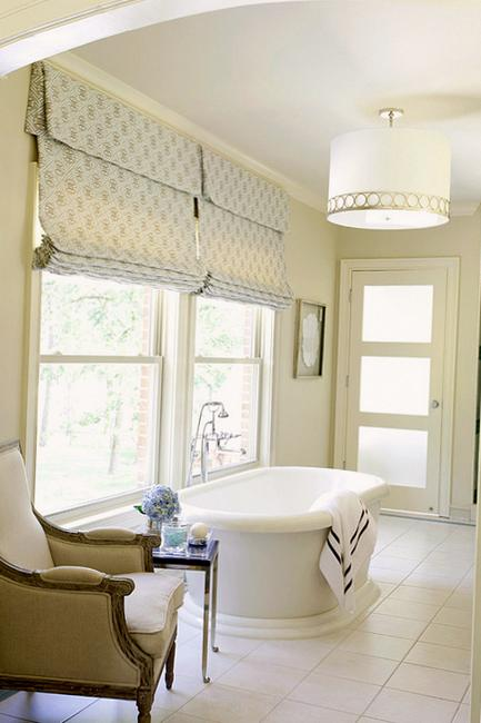 Roman Shades For Modern Kitchens And Bathroom Decorating
