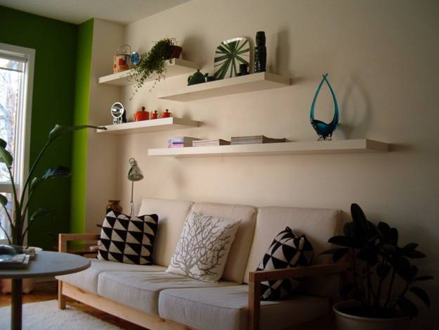 Creative And Modern Interior Decorating With Open Wall Shelves