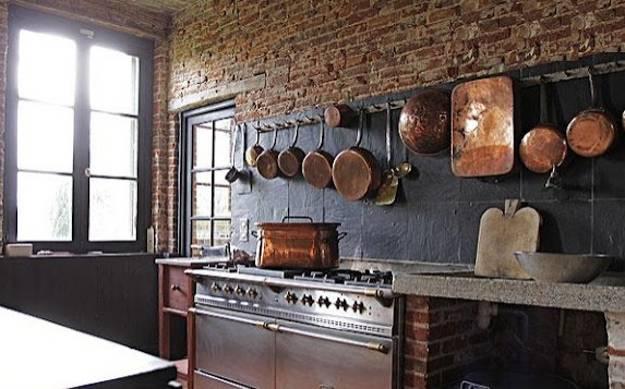 Modern Kitchen Decor With Brick Walls 25 Interior